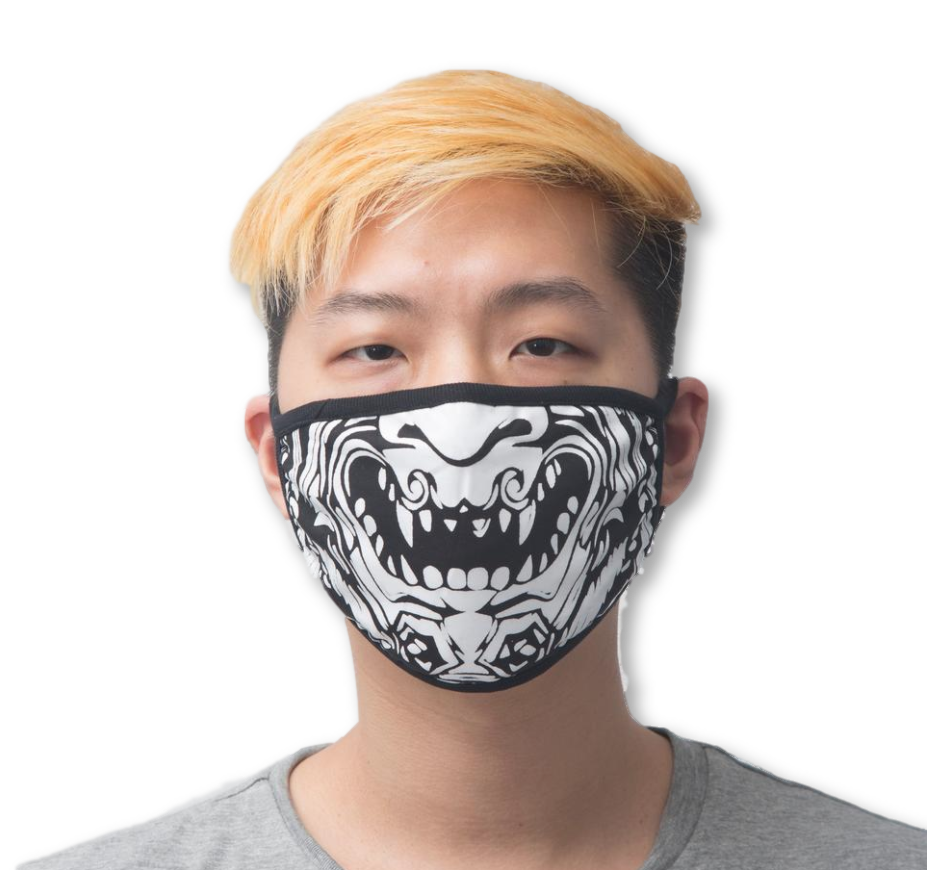 Tiki God Face Mask (Black)