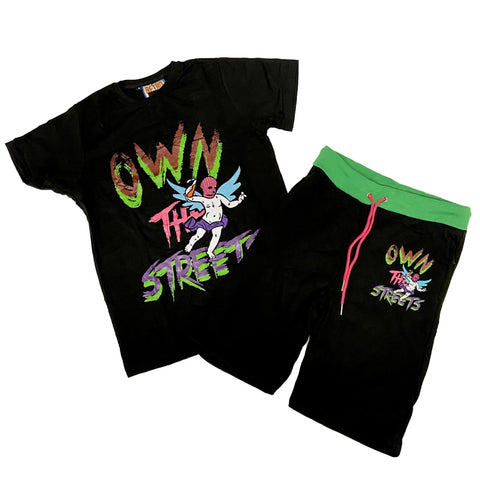 Own The Streets SS Set (Blk/Multi) /D8
