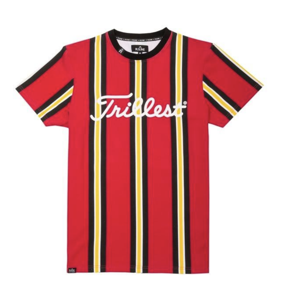 Trillest Tape Stripe Tee (Red) /D14