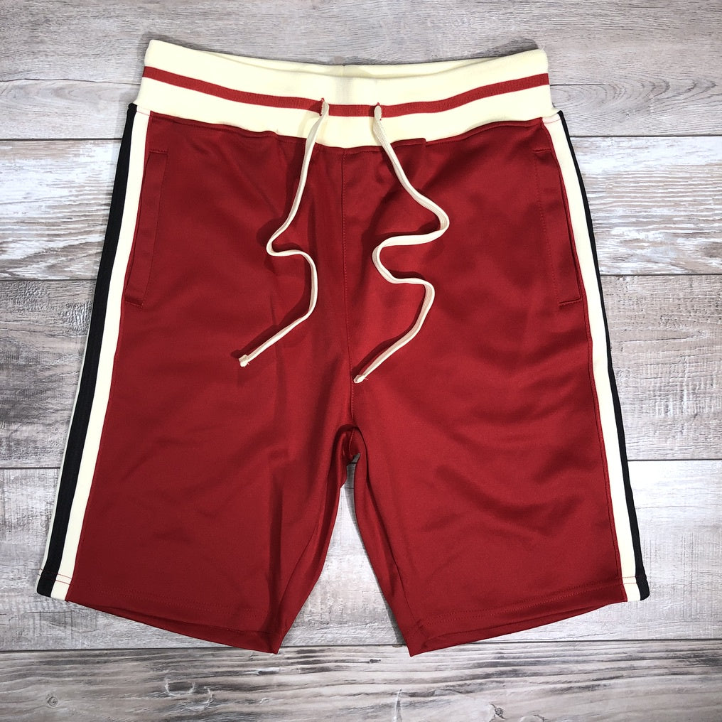Striped Track Shorts (Red) /C