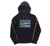 Caution French Terry Reflective Hoodie (Gravel Black) /MD2