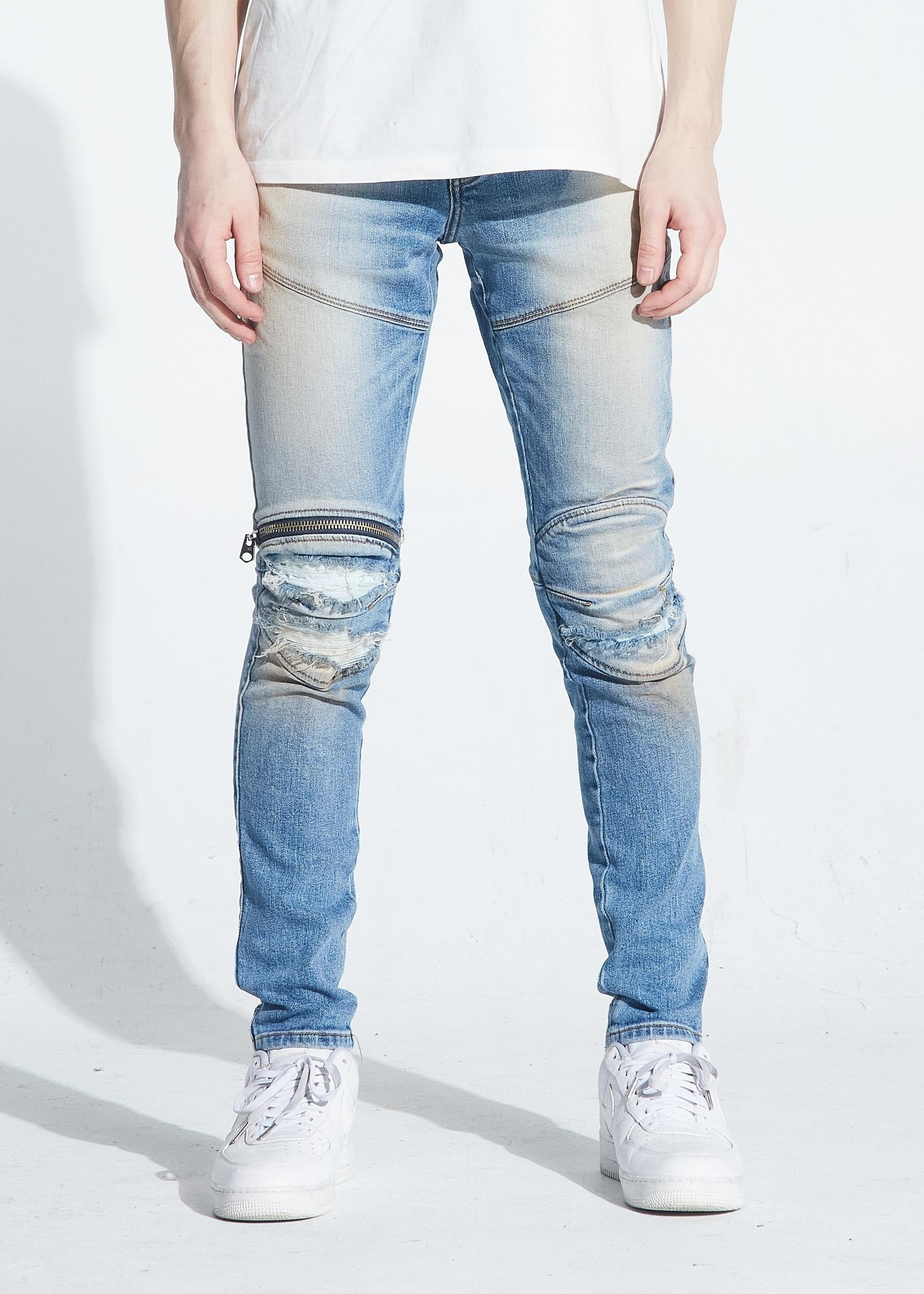 Bart Zipper Blue Denim (Lt. Wash) / C2