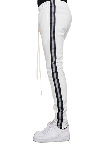 Reflective Track Pants (White/Blk) / C8