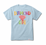 Diamond Watercolors Tee (Powder Blue) /D4