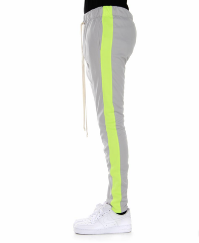 Techno Track Pants (Silver/Neon Green) /D2