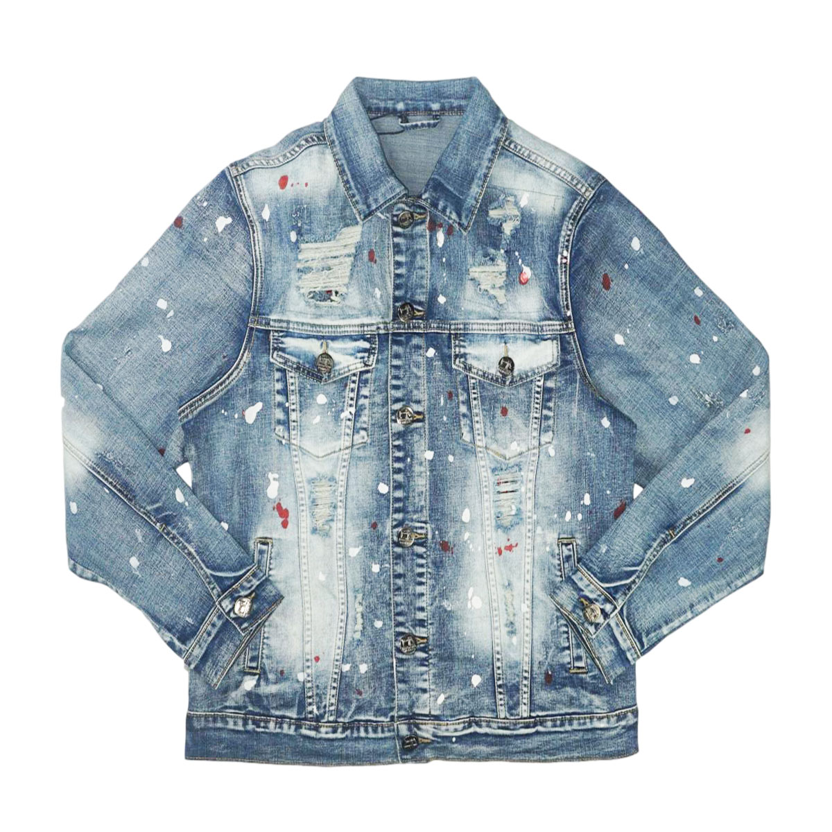 Atlantas Premium Denim Jacket w/ Stones (Blue) /D6