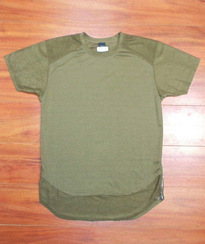 Double Layered Extended Tee (Olive)