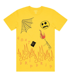 Flame on Drip Tee (Mustard) /D11