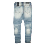 Noah Red Stripe Denim (Lt. Wash) /C2