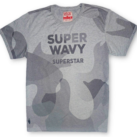 Super Wavy Tee (Heather Grey)