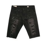 Distressed Rip Off Shorts (Washed Black) /C2