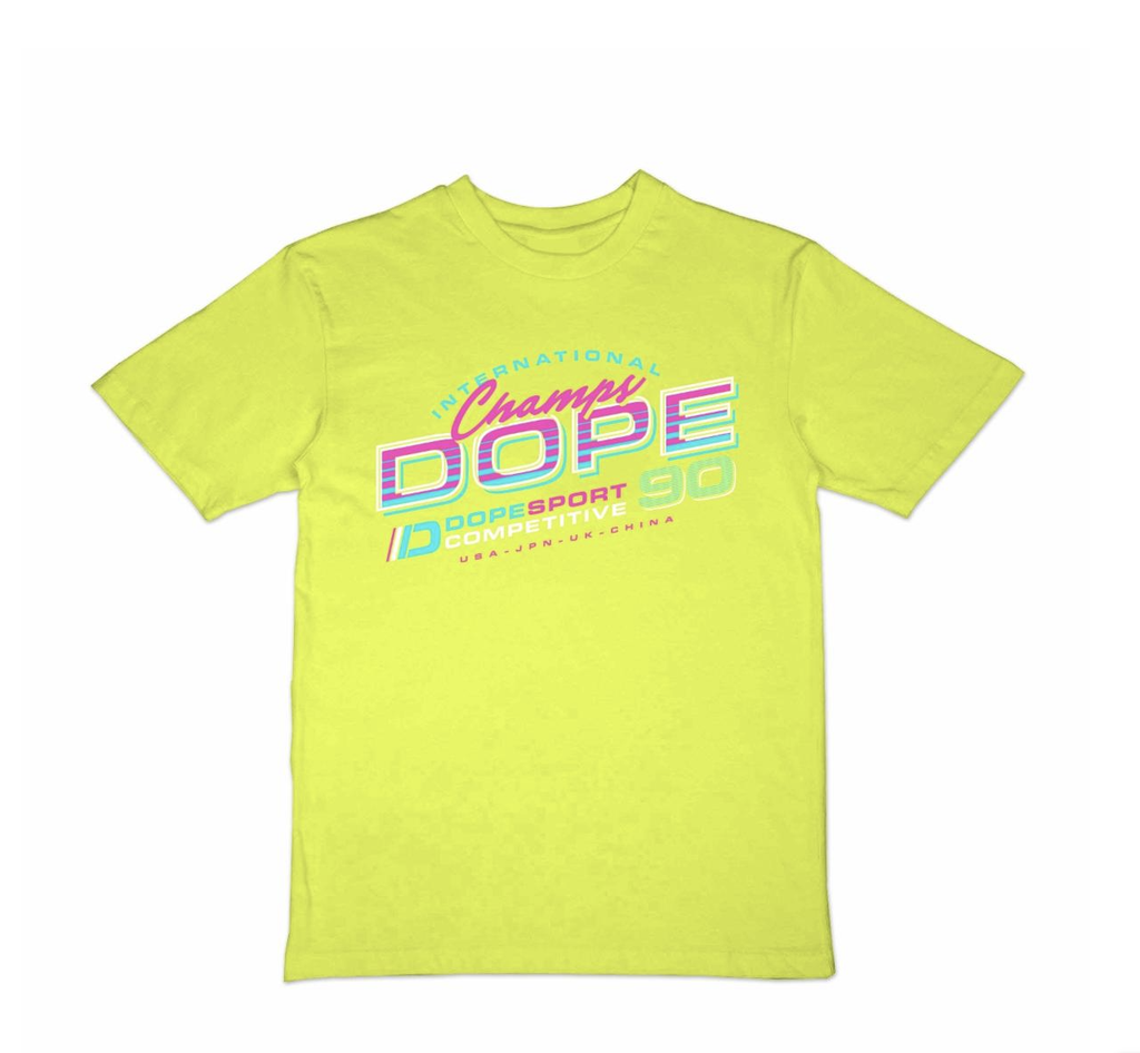 Retroset Tee (Safety Green) /D9