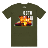 Burning Car Tee (Olive) /D10