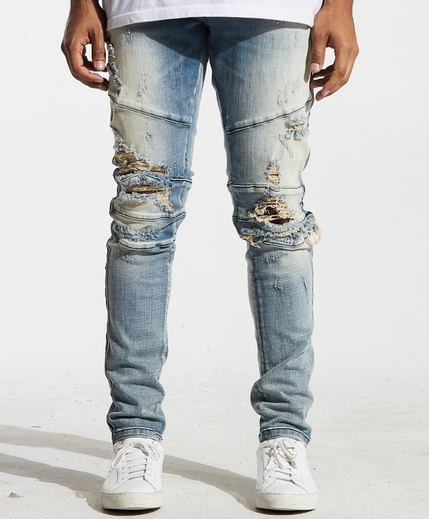 Distressed Montana Denim (Blue) /C4