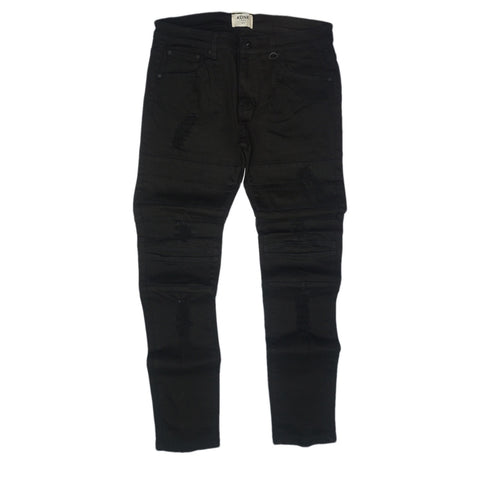 Destroyed Jeans with Panels (Black) /C4