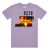 Burning Car Tee (Lavender) /D10