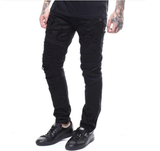 Biker Distressed Denim (Black)/C3