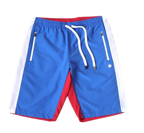 Hero Color Block Shorts (Red/Wte/Blue Combo) /D11