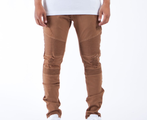 The Reign Biker Denim (Tobacco) / C4