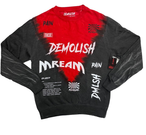 Remix Tie-Dye Crew  (Red/Black)