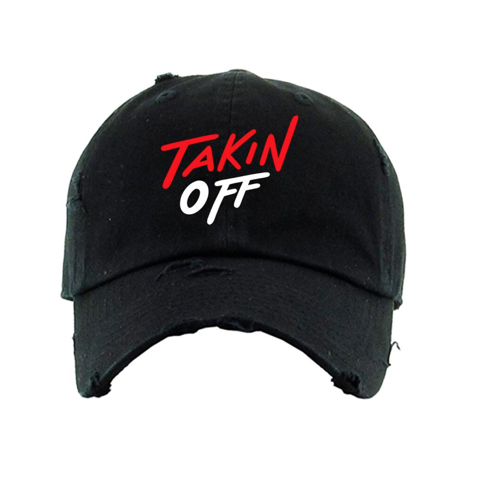 Takin Off Dad Hat (Black/Red)