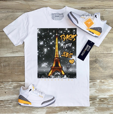 Paris With Love Tee (Wte/Laser Org) /D2