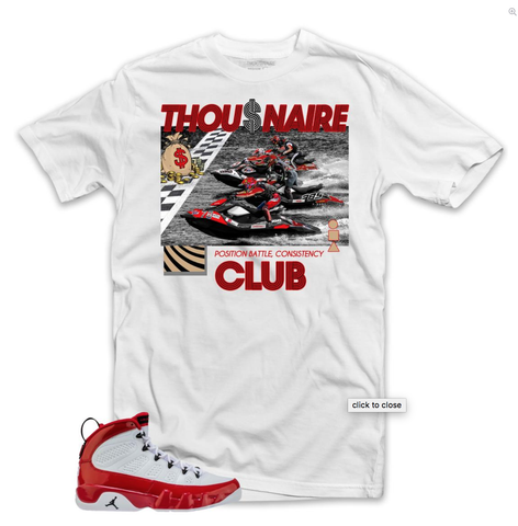 Jet Ski Race Tee (White/Red/Black) / D11