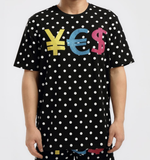 Dotted Currency Shirt (Black) / D3
