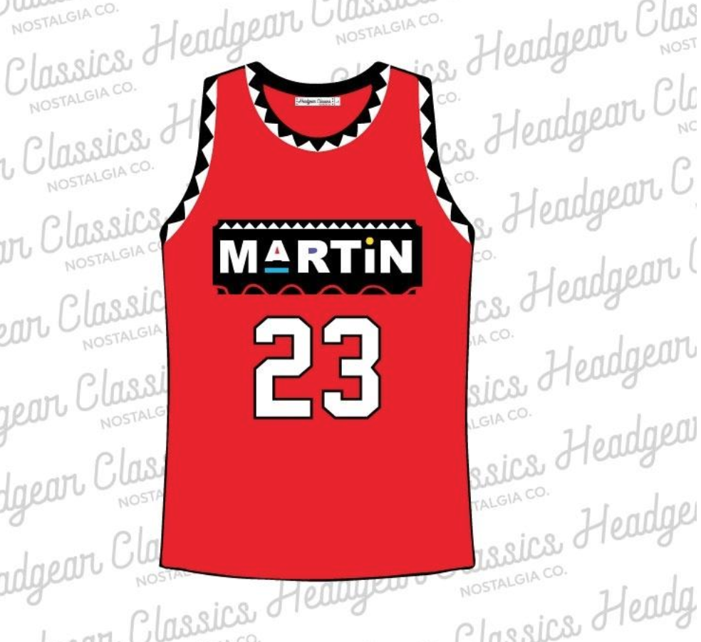 Martin Payne Basketball Jersey (Red) /D16