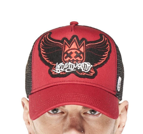 Wings Mesh Trucker Hat (Red)