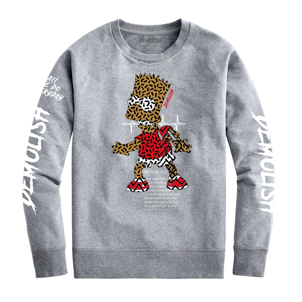 Bart Puzzled Crew (Grey)