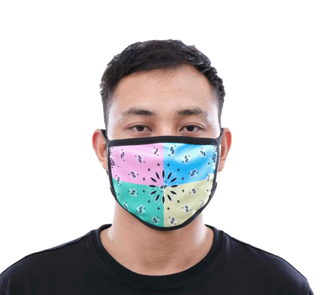 Multi Paisley Face Mask (Green)