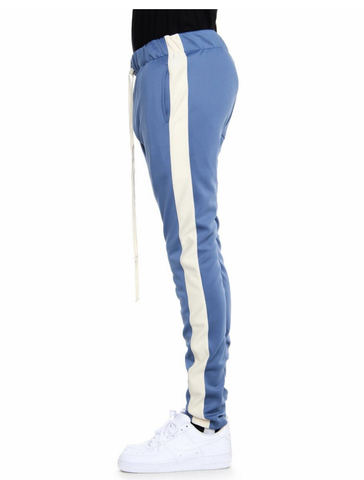 Techno Track Pants (Denim Blue/Cream) /D4