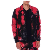 Bleached Spot Denim Jacket (Red Hawaii) /C2