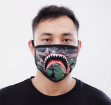 Sharkmouth Camo Face Mask (Green)
