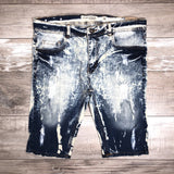 Distressed Bleach Shorts (Lt Blue) /C5