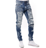 Paint Rip & Repair Denim (Brush Blue) /C6