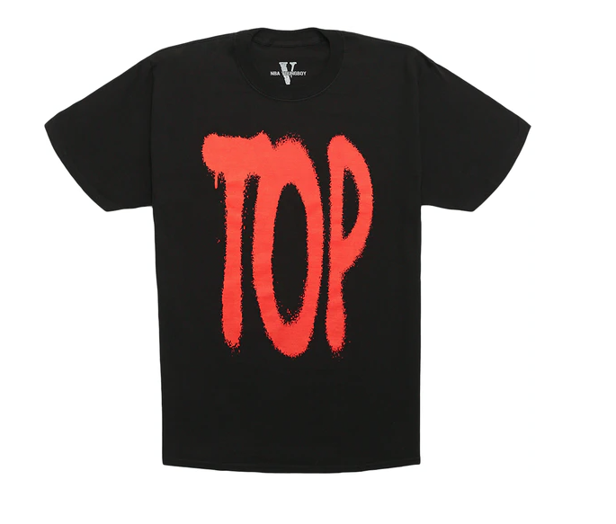 Vlone NBA Young Boy Tee (Blk /Red) /D10