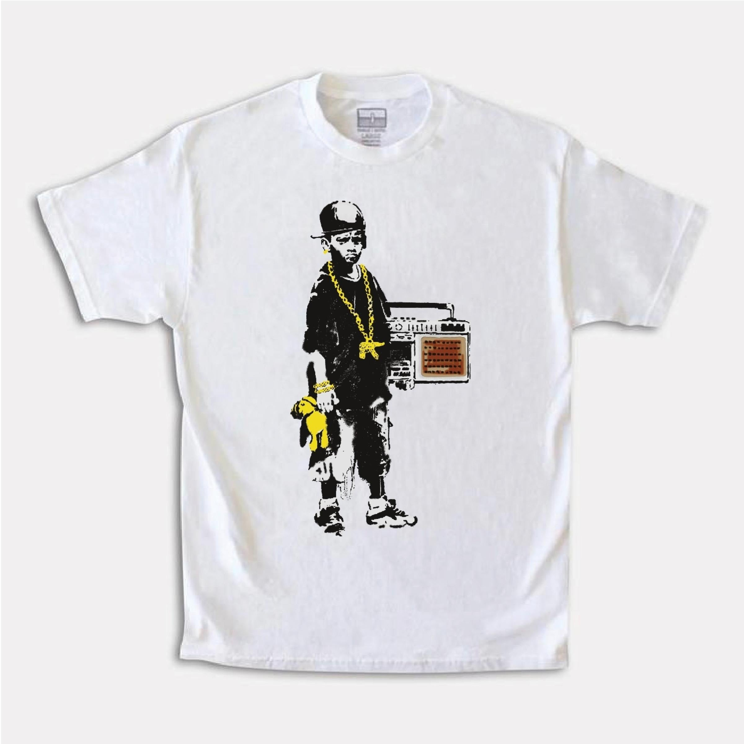 Boy With A Teddy Tee (White) / D1