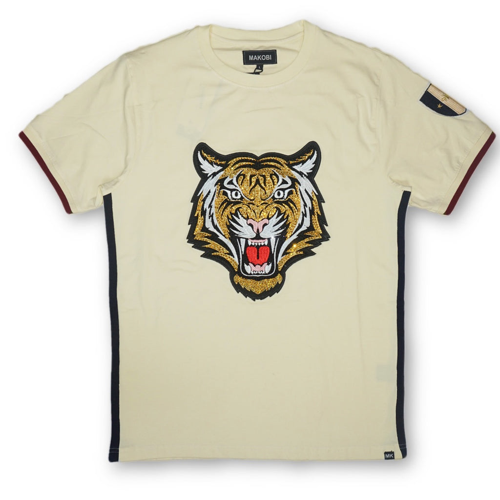 Tiger Side Stripe Tee (Natural)