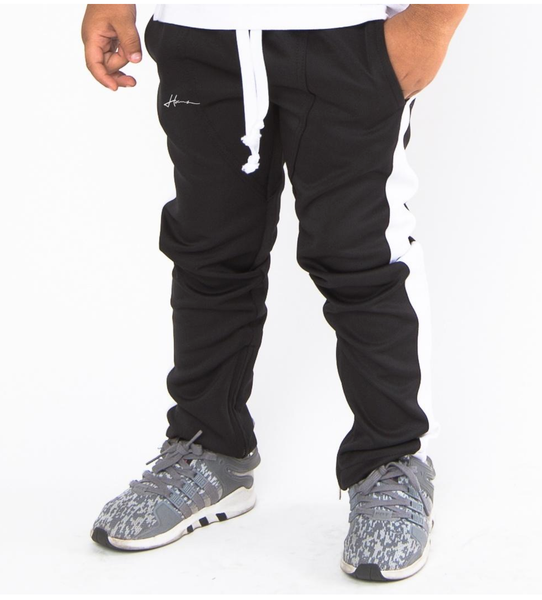 Brody Kids Trackpants (Blk/Wte) /C7