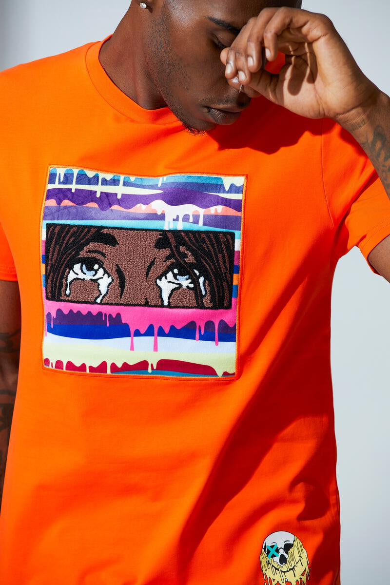 Heart Break Tee (Orange) /D12