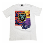 Bear Camo Patch Tee (White) /D15