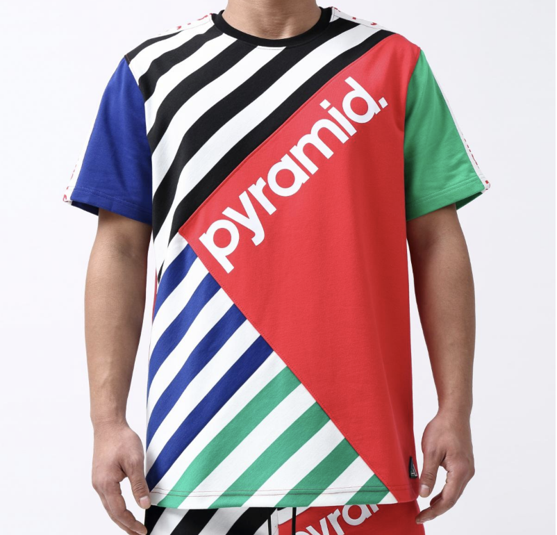 Multi Stripe Tee (Red/Multi) /D6