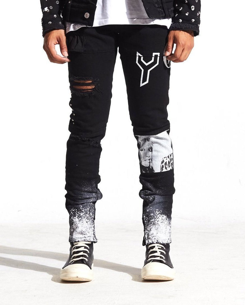 Spungen Denim Graffiti Denim (Black) /C9
