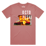 Burning Car Tee (Dusty Rose) /D10