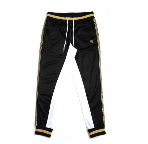 Gold Trim Track Pants (Black/Gold) /C8