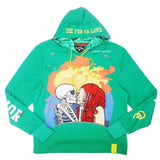 Die For Love Fleece Pullover (Green ) / D12