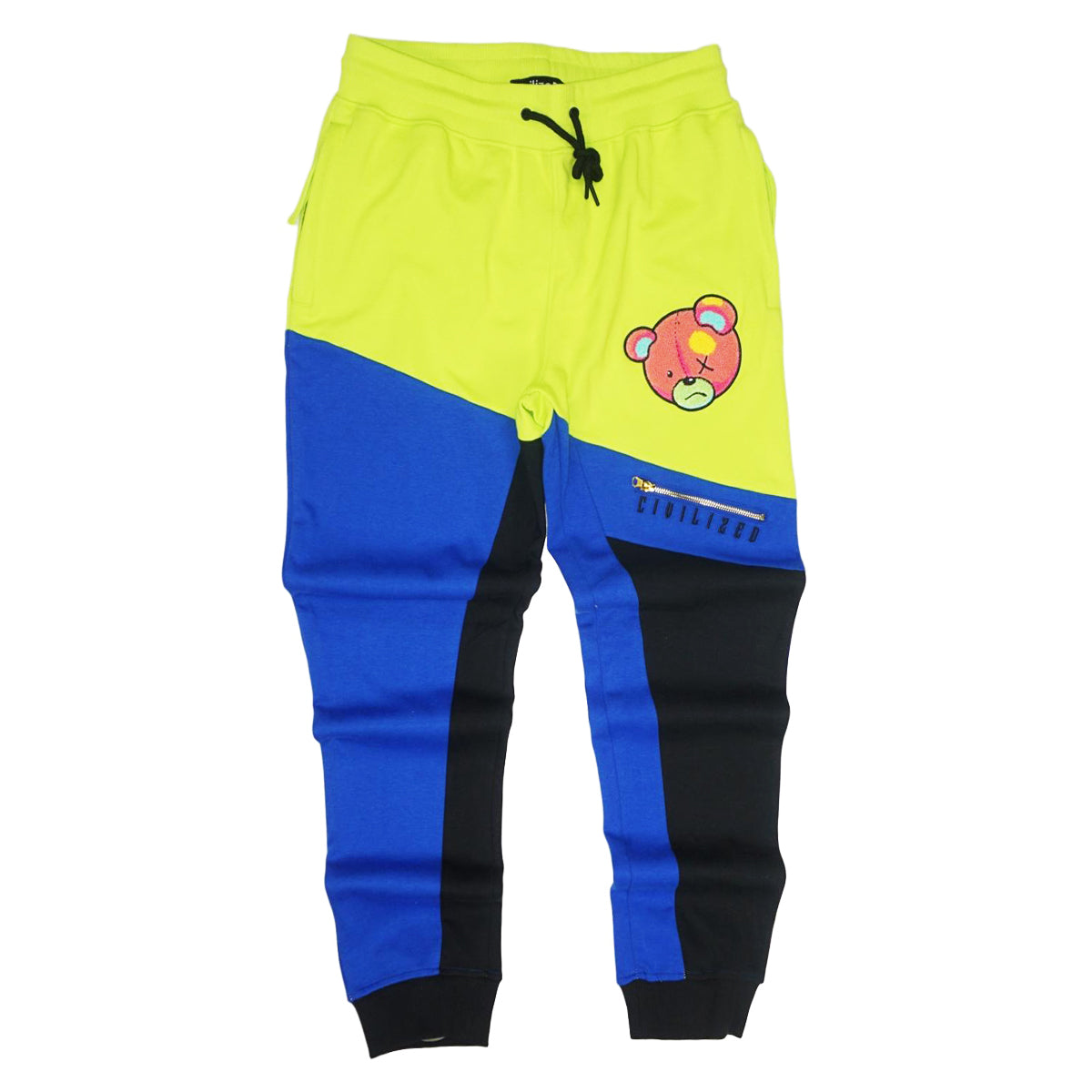 Civilized Bear Color Block PANTS (Blue)/ MD1