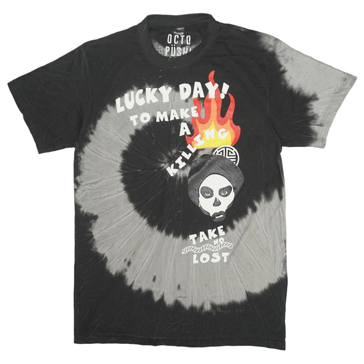 Lucky Day Tie-Dye Tee (Blk/Gry) /D5